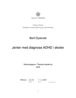 Phd thesis on adhd